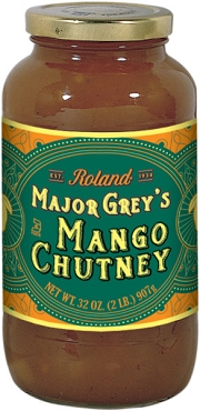 Roland Major Grey's Mango Chutney, 32 Oz Jar, Pack of Two Jars