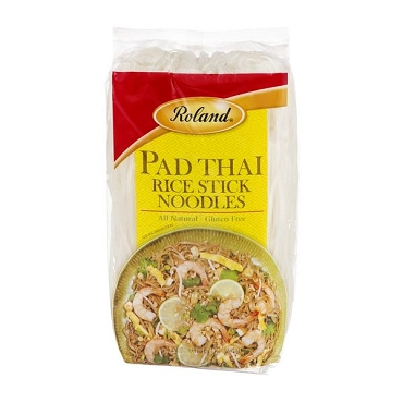 Roland Rice Noodles, Pad Thai Rice Stick Noodles, 14 Ounce (Pack of 8)
