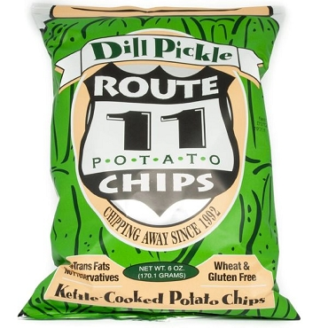 Route 11 Dill Pickle Potato Chips -12 Pack - 6 oz