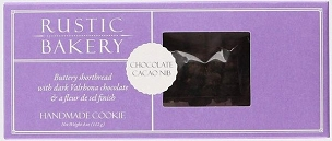 Rustic Bakery Cookies Shortbread Chocolate Cacao Nibs, Case of 12- 4 Oz Boxes
