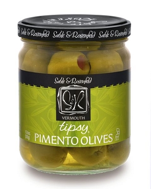 Sable & Rosenfeld Tipsy Vermouth Pimento Olives, 10.6 Oz Pack of 6 Jars