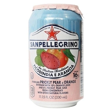 San Pellegrino Prickly Pear & Orange Sparkling Drink, Case of 24
