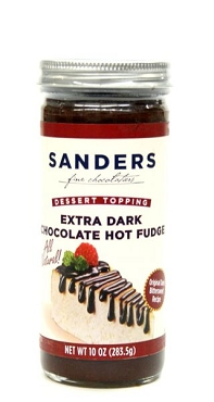 Sanders Extra Dark Chocolate Dessert Topping 10 Oz - 5 Pack
