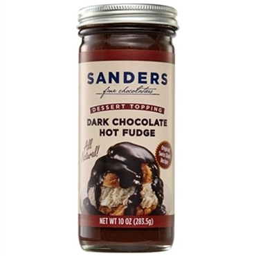Sanders Topping Dark Chocolate Hot Fudge, 10 Oz, Pack Of 5