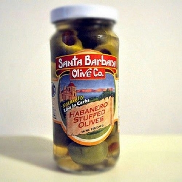 Santa Barbara Habanero Stuffed Olives, 6 Glass Jars