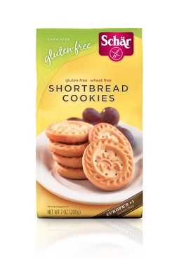 Schar Naturally Gluten-Free Shortbread Cookies, Case Pack of 12