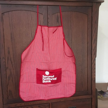 Second National Bank Apron, New w/ MFG Tag Only
