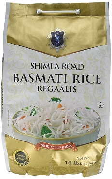 Shimla Road Basmati Rice, 10 Lb Bag