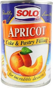 Solo Apricot Cake and Pastry Filling, 12 Oz, Pack of Six Cans