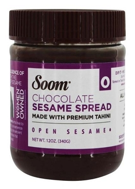 Soom Foods Vegan Chocolate Sesame Nut-Free Spread, 12 oz (Pack of 6)