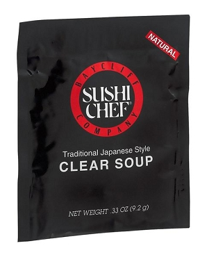 Sushi Chef Traditional Japanese Clear Soup Mix - 12 Pack, Single Serve Packets