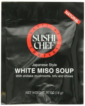 Sushi Chef White Miso Soup- Case of 12 Packets of Dry Mix