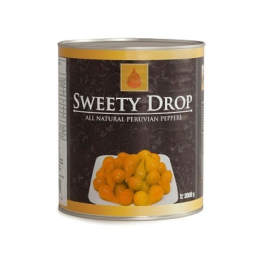 Sweety Drop Yellow Peruvian Peppers, 6.6 Lb Can, ( Foodservice Pack).