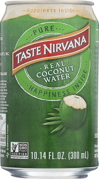 TASTE NIRVANA NATURAL COCONUT WATER (10.14 Oz Cans) Case of 12 Cans