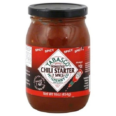 Tabasco 7 Spice Recipe Spicy Chili Starter, 16 Oz Jar, Six Pack