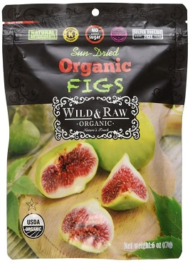 Wild & Raw brand Organic Sun-Dried Turkish Figs 6 Oz bags( pack of Eight Bags)