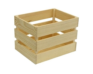 Wood Display Crate- Small (NEW) - 12