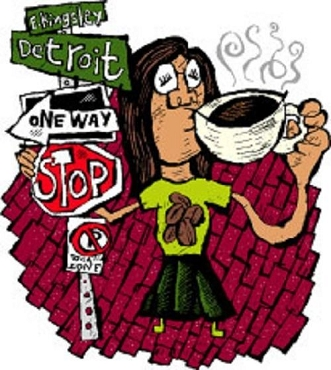 Zingerman's Detroit Street Decaf Coffee, Whole Bean,Six -12 oz Bags