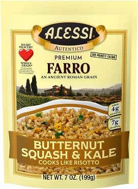 Alessi Butternut Squash & Kale Farro, Case of Six Pouches