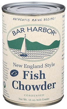Bar Harbor New England Style  Fish Chowder, Case of Six 15 oz Cans