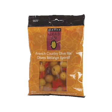 Barnier Grab An O Olive, Country Olive Mix, 4.4-Oz (Pack of 6)