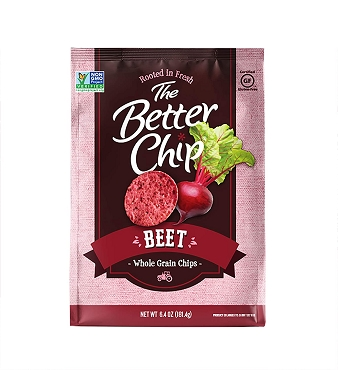 THE BETTER CHIP BEET CHIPS -One- 6.4 OZ BAG Free Shipping
