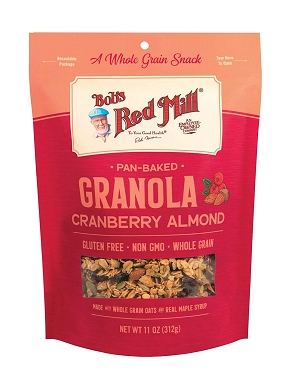 Bob's Red Mill Pan-Baked Cranberry Almond Granola, 11 Oz (Pack of 6)