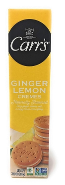 Carr's Ginger Lemon Cremes - 7.05 Oz Box, Case of 8 Boxes