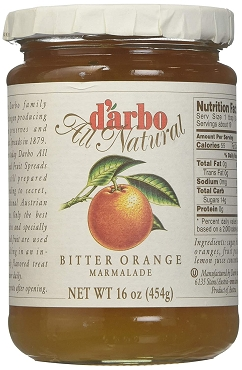 D'arbo All Natural Bitter Orange Marmalade ( 16oz/454g) - 6 Pack of Glass Jars