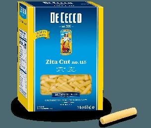 DECECCO ZITA CUT PASTA 16 OZ BOX, Six Boxes