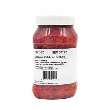 Chopped Calabrian Peppers by Divina, 2.21 LB Jar