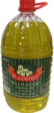 El Cortijo Canola/Extra Virgin Olive Oil Blend(65/35) 5 Liter Bottle
