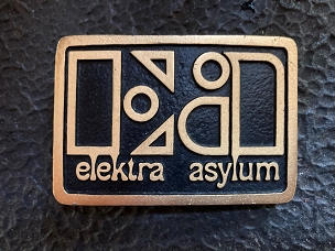 Elektra Asylum Records Belt Buckle Swag