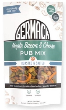 Germack Maple Bacon Cheese Pub Mix, 7 Oz Bags, Case of 8 Bags
