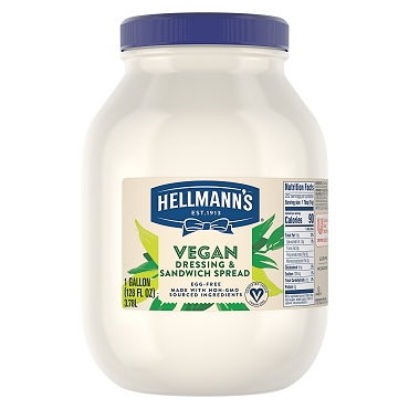 Hellman's Plant Based Vegan Sandwich Spread(mayonnaise), One Gallon