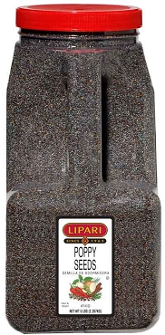 Poppy Seeds, 5 Lb Bulk Canister, Food Service Labeled
