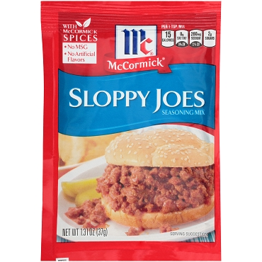 McCormick Sloppy Joe Seasoning Mix, 1.31 OZ- Case of 12 Packets