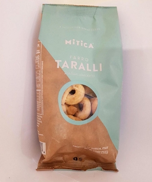 Mitica Farro Taralli Classic Crackers 8.8 oz, Case of 12 Bags