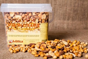 Mitica Spanish Cocktail Nut Mix -1.65 Lb. Tub- 2 Pack