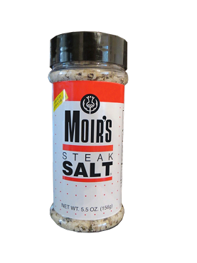 Moir's Steak Salt, Case of Twelve 5.5 oz Shaker Bottles