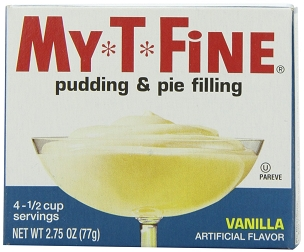 My-T-Fine Vanilla Pudding and Pie Filling- 12 Box Case, 2.75 Oz Boxes