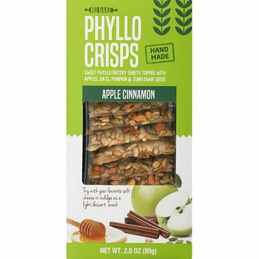 Nu Bake Phyllo Crisps Apple Cinnamon, Case of Twelve 2.8 Oz Boxes