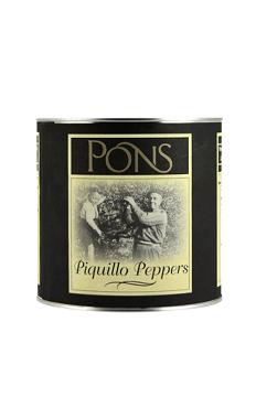 PONS WHOLE PIQUILLO PEPPERS, 88.2 OZ CAN.