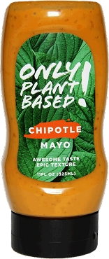 ONLY PLANT BASED! - CHIPOTLE MAYO - 11 FL OZ SQUEEZE BOTTLE, Case of 8 Bottles