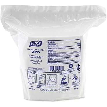 Purell Hand Sanitizing Wipes Refill, 1700 Wet Wipes 5 in x 6 in