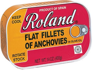 Roland Anchovy Flat Fillets In Olive Oil, 14 Oz