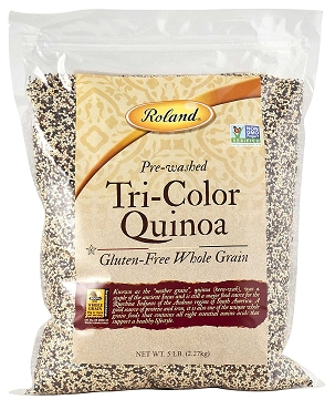 Roland Quinoa, Tri-Color, 5 Pound Bag