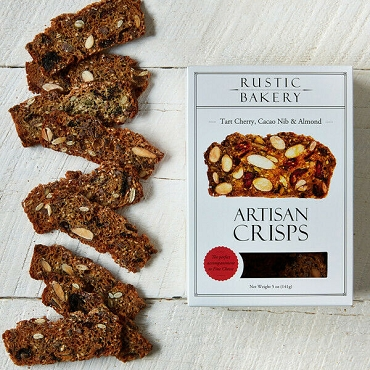 Rustic Bakery Tart Cherry, Cacao Nib & Almond Crisps 5 oz, Case of 12 Boxes