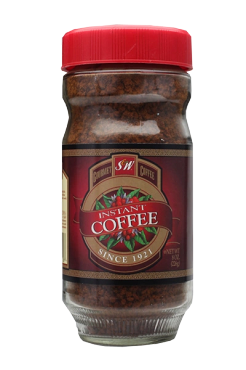 S & W Instant Coffee, 8 Oz Glass Jar, Pack of 6 Jars