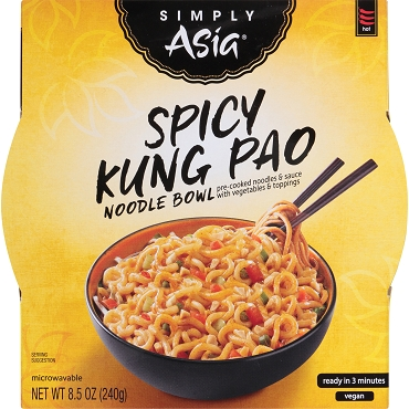 Simply Asia Spicy Kung Pao Noodle Bowl, Case of Six Bowls
